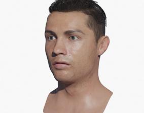 Cristiano Ronaldo Head 3d model low-poly