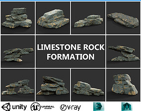 Low poly Big Rock Formation Pack 200928 - 3D asset