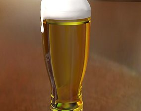 Realistic Beer 3D model realtime