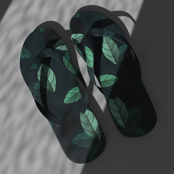 A pair of slippers - CGI