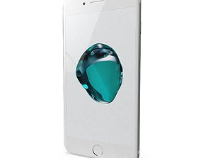 Apple iPhone 7 Plus Silver 3D model low-poly