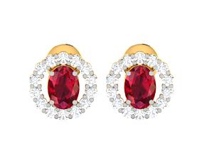 gold jewellery Women earrings 3dm render detail