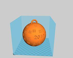 3D print model New Year ball