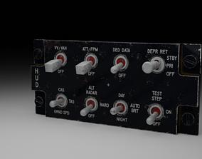 3D F16 HUD Remote Control Panel