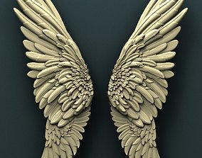 Wings 3d stl model for cnc