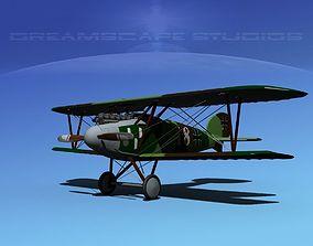 Albatross DIII Fighter 3D model rigged plane
