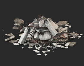 Ruin Debris Rubble 02 3D model