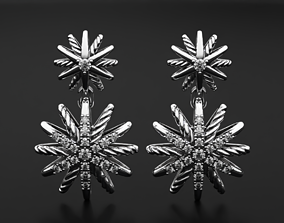 3D printable model Stylish star diamond earrings 512