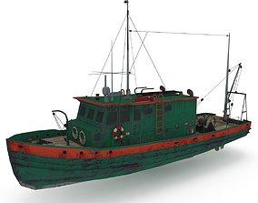 3D asset Salling Fisherman Boat