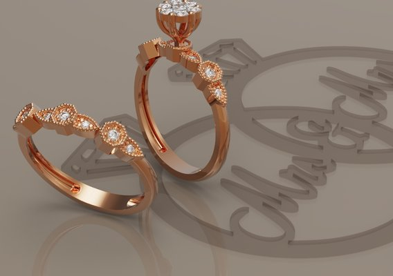 Ring and ring back with flower
