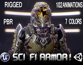 3D model Sci-Fi Armor 1