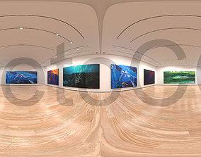 3D model HDRI - Art Museum Gallery Interior 1c