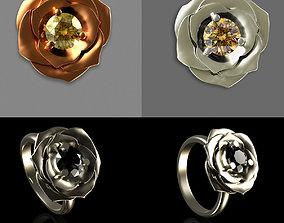 Ring Flower 3D printable model fashion-ring