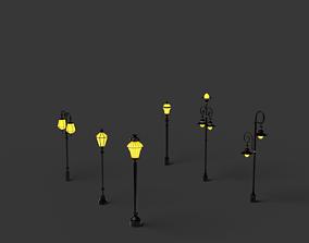 3D asset street lamp post