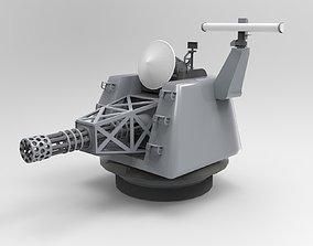 3D asset Naval Machine Gun - CIWS - Close-in weapon system