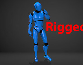Male Robot Rigged 3D model