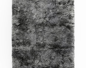 3D model Shaggy Sheepskin Gray Rug