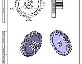 3D print model Gearwheel 42 and 13