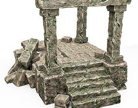 3D Ancient stone temple