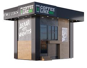 Coffee house 3D asset