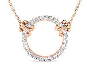 Women round necklace 3dm stl render detail