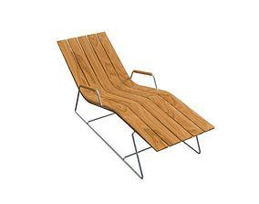 long pool chair 3D