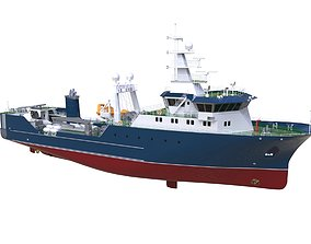 3D model Complated Trawler Boat