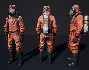 3D model animated Hazmat Suit
