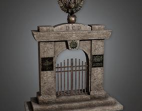 Cemetery Gate 1 CEM - PBR Game Ready 3D asset