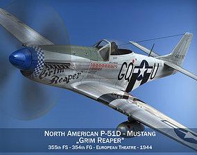 3D model North American P-51D Mustang - Grim Reaper
