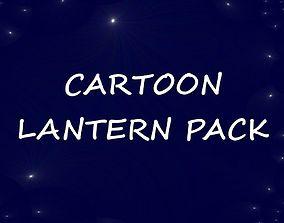 Cartoon lantern pack 3D asset