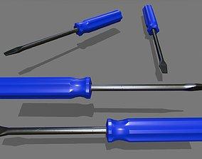 screwdriver 3D model low-poly