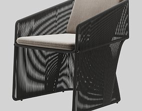 Holly Hunt Scarab dining chair 3D