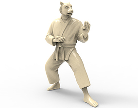 Tiger Kokutsu Dachi Stance 3D printable model