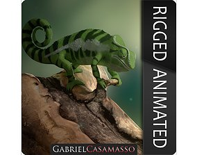 Panther Chameleon - Furcifer Pardalis 3D model animated