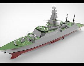 Type 26 Frigate anti submarine I 3D
