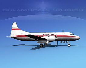 Convair CV-340 Zantop 3D
