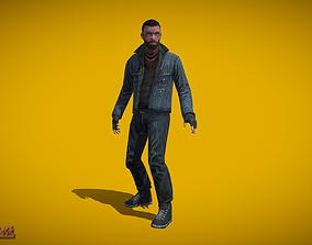 3D asset Apocalypse Survivor Man