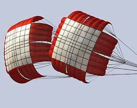 3D asset Braking parachute