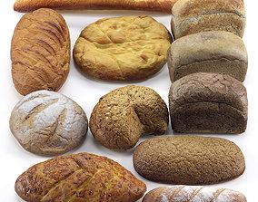 Bread set 3D miscellaneous