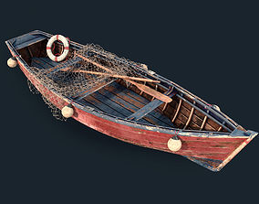 3D model Old fishing boat vray