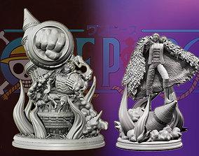 gear 4 luffy vs doflamingo 3d prints - one piece statue