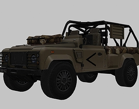 Land Rover Wolf 3D model realtime