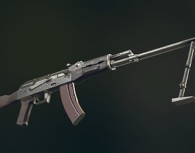 3D model RPK Automatic Rifle equipped with GL25 and bipod