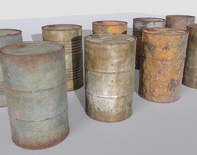Rusty Barrels Pack 3D asset