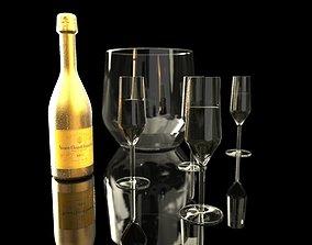 Modern Champagne Set 3D model