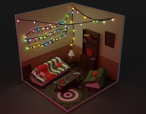 3D asset Stranger things dzoise room