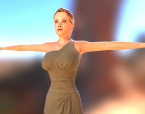 body Female Character 3D model rigged