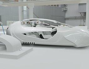 3D model Affekta US4 Future Sci-Fi Concept Fly Car with 4
