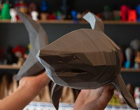 Hanging Low Poly Shark 3D print model